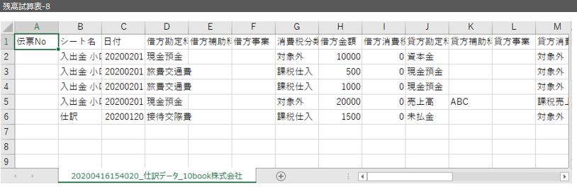 E01 残高試算表 8 - 集計表_残高試算表